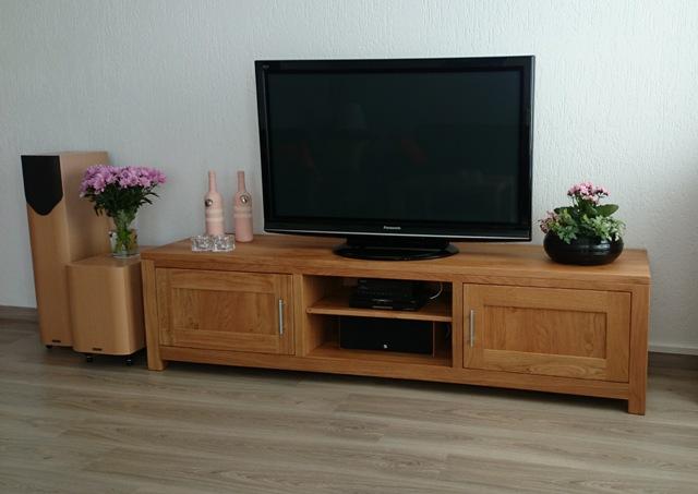 Blank eiken tv meubel op maat gemaakt
